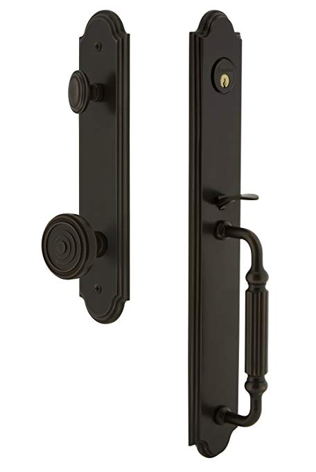 An image related to Grandeur 844354 Brass Bronze Lever Lockset Lock