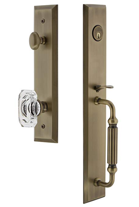 An image of Grandeur 845692 Brass Lever Lockset Lock