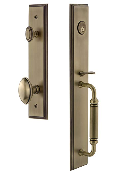 An image of Grandeur 842313 Brass Lever Lockset Door Lock