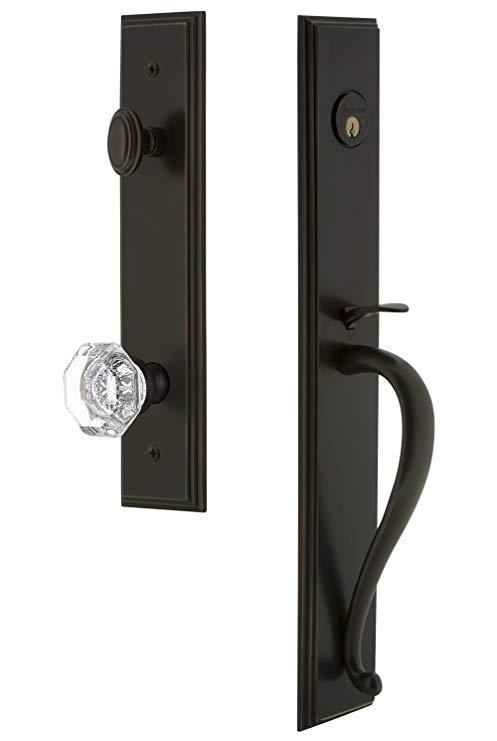 An image related to Grandeur 843391 Brass Bronze Lever Lockset Lock