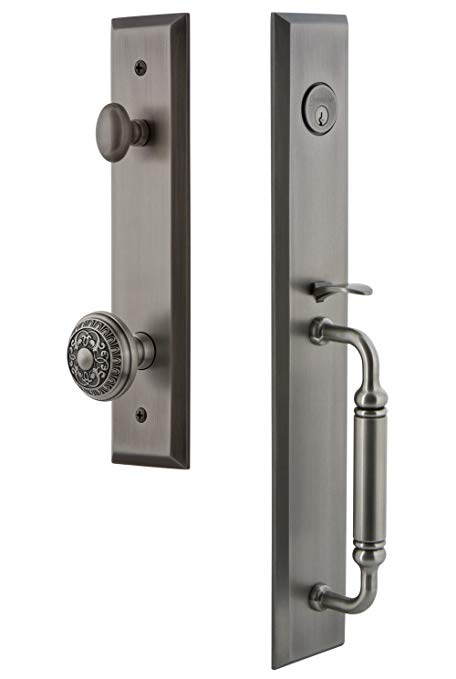 An image related to Grandeur 842838 Pewter Lever Lockset Lock