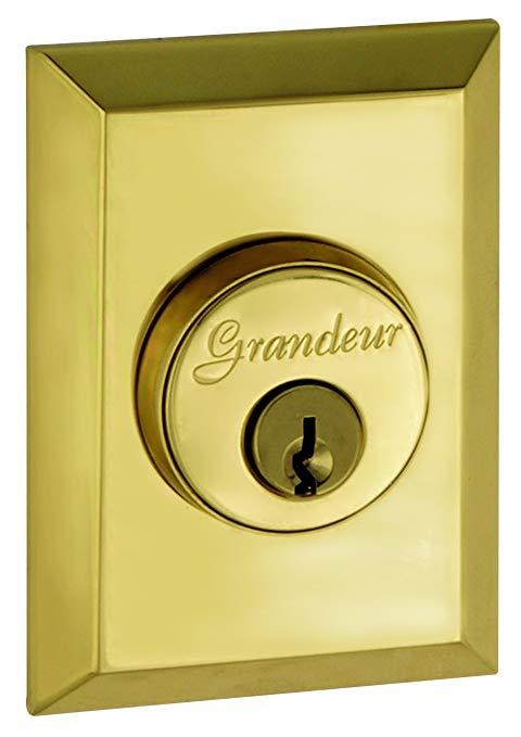 An image of Grandeur FAV-62-LB-KD House Brass Door Lock