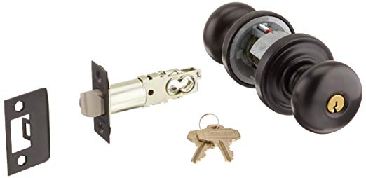 An image of Baldwin 5205.102.ENTR Entry Brass Oil-Rubbed Bronze Lock