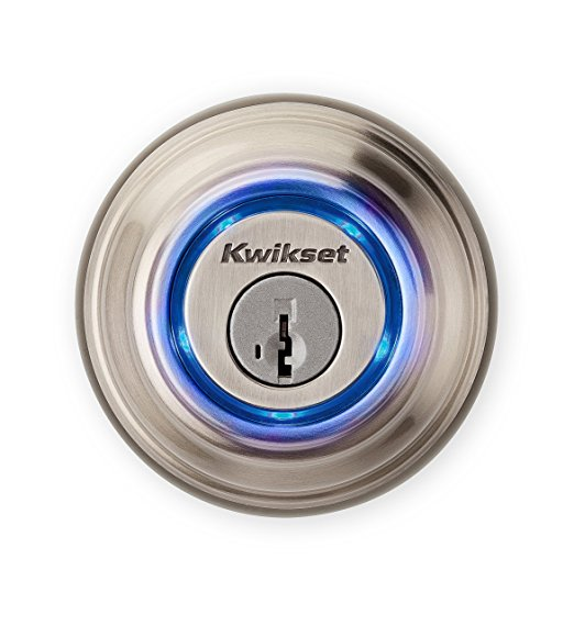 An image of Kwikset 99250-802 Satin Nickel Bluetooth Lock