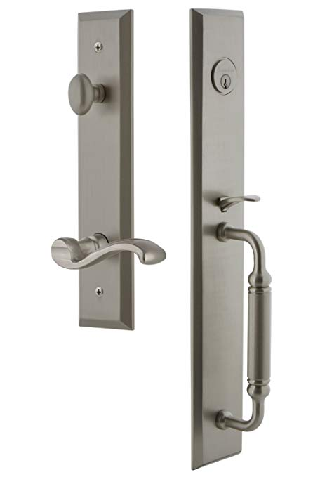 An image related to Grandeur 843307 Satin Nickel Lever Lockset Door Lock