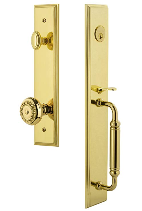 An image of Grandeur 842401 Brass Lever Lockset Lock
