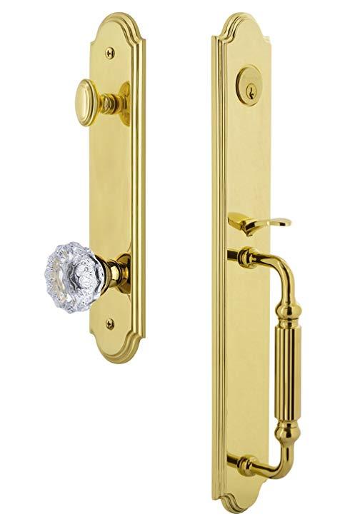 An image of Grandeur 844030 Brass Lever Lockset Lock