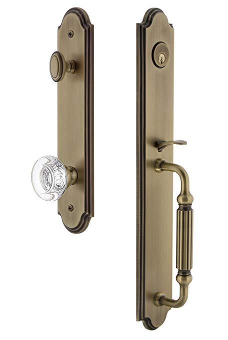 An image related to Grandeur 843647 Brass Lever Lockset Lock