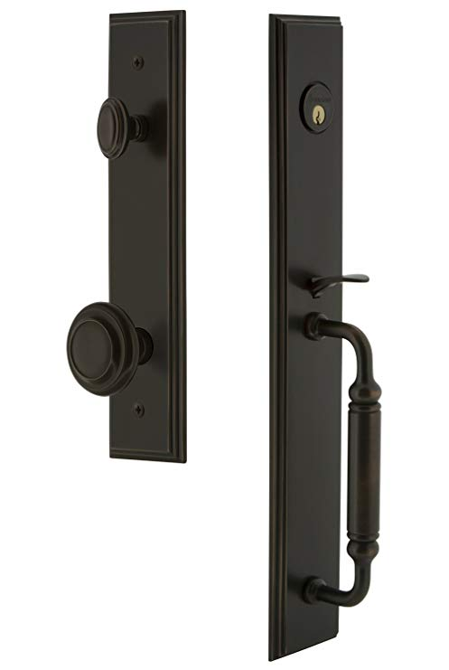 An image related to Grandeur 842290 Bronze Lever Lockset Lock