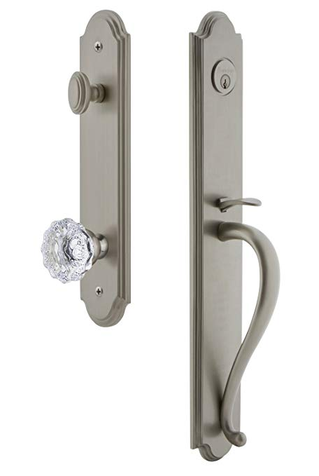 An image of Grandeur 844047 Satin Nickel Lever Lockset Door Lock | Door Lock Guide