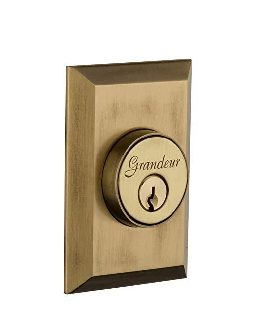 An image related to Grandeur FAV-62-VB-KD House Brass Door Lock
