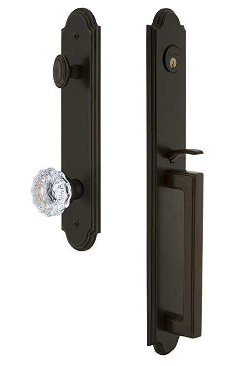 An image related to Grandeur 844051 Brass Bronze Lever Lockset Lock