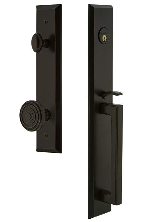 An image related to Grandeur 846517 Brass Bronze Lever Lockset Lock