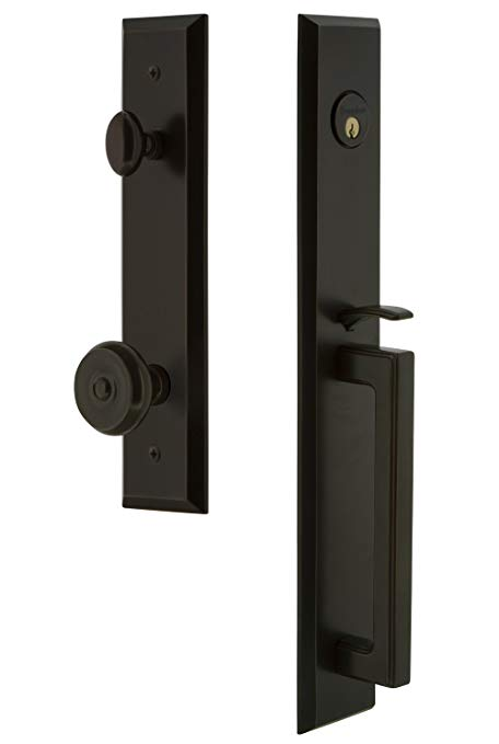 An image related to Grandeur 845857 Brass Bronze Lever Lockset Lock