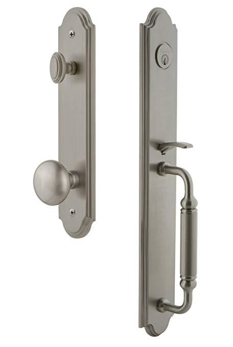 An image related to Grandeur 841969 Brass Satin Nickel Lever Lockset Lock
