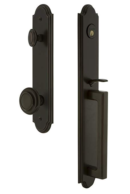 An image related to Grandeur 843871 Brass Bronze Lever Lockset Lock
