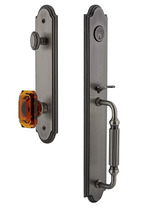 An image related to Grandeur 843411 Pewter Lever Lockset Lock
