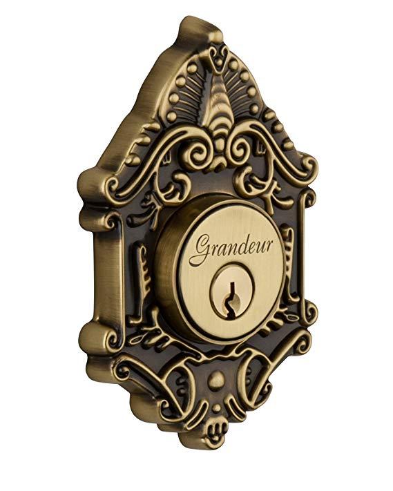 An image of Grandeur GVC-62-VB-KD House Brass Door Lock