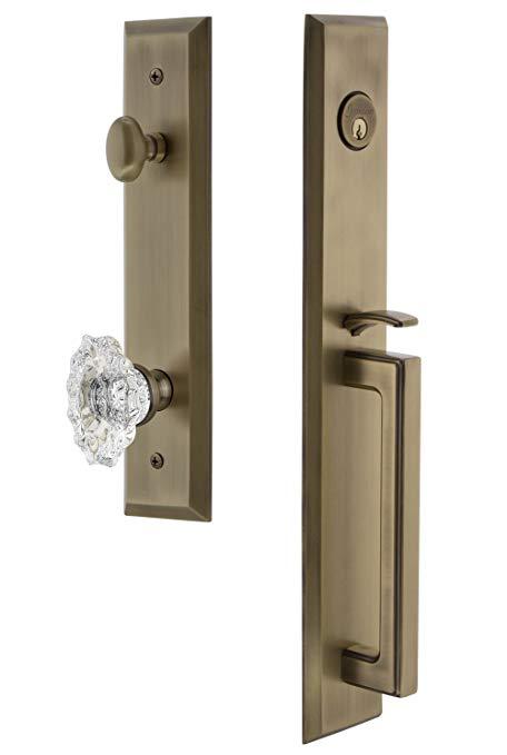 An image related to Grandeur 845748 Brass Lever Lockset Lock