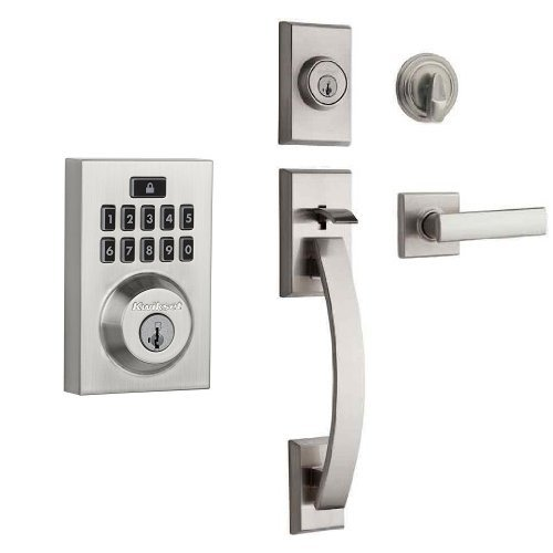 An image of Kwikset 913 Entry Satin Nickel Lock | Door Lock Guide
