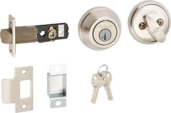 An image related to Kwikset 598-15S Satin Nickel Lock