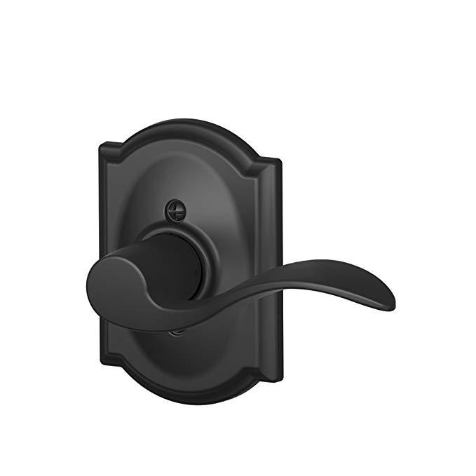 An image of Schlage F170 ACC 622 CAM RH Black Lever Lockset Lock | Door Lock Guide