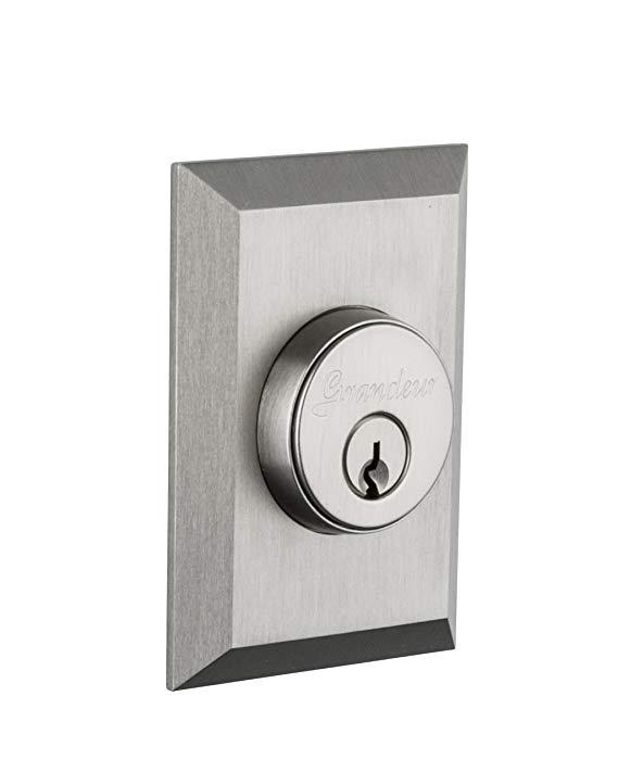 An image related to Grandeur 824336 House Satin Nickel Lock