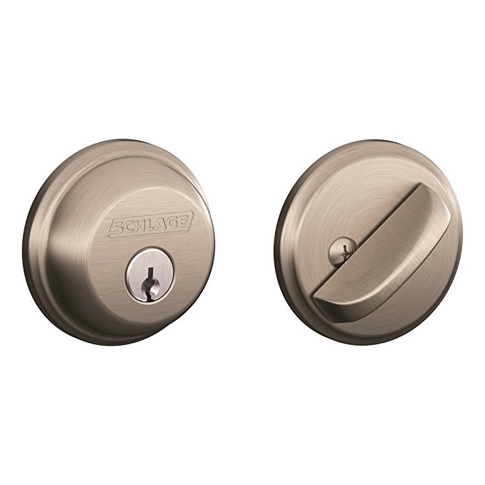 An image related to Schlage B60N619 Entry Satin Nickel Lock