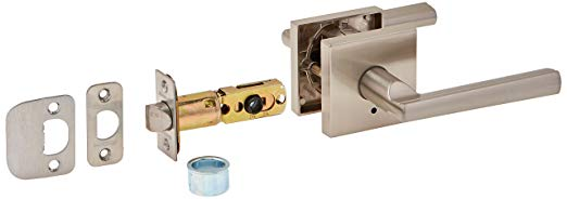 An image related to Kwikset 155MRLSQT-15 Privacy Satin Nickel Lock