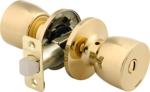 An image related to BRINKS 2711-105 Bedroom Privacy Polished Brass Lock