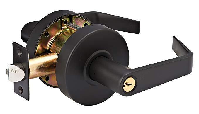 An image of Master Lock SLCHKE10B Entry Oil-Rubbed Bronze Lever Lockset Lock