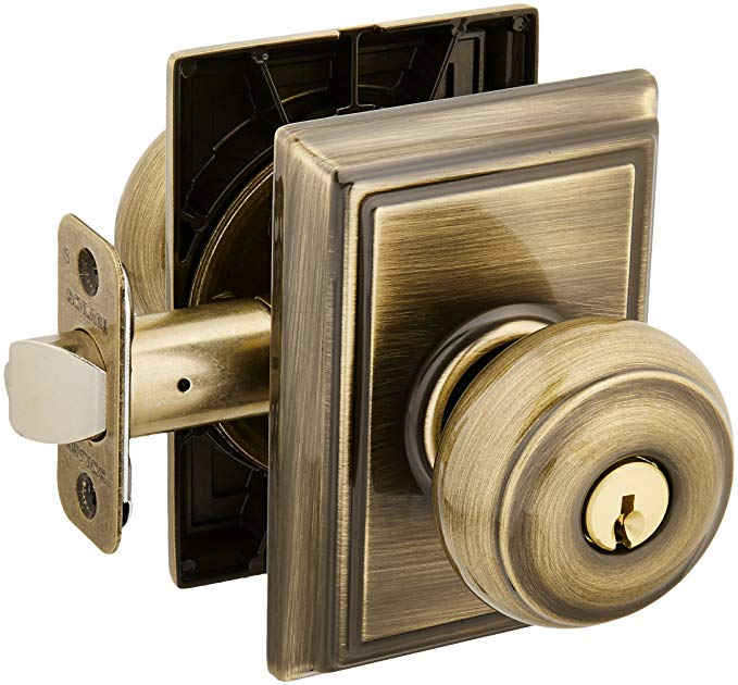 An image related to Schlage F51AGEO609ADD Entry Brass Lock