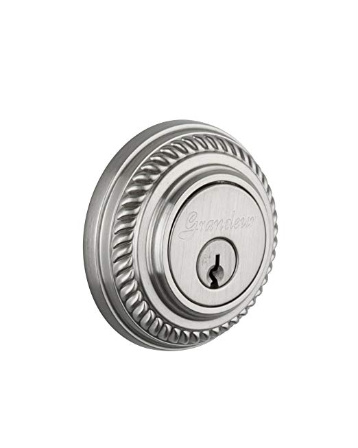An image of Grandeur NEW-62-SN-KD House Satin Nickel Lock | Door Lock Guide