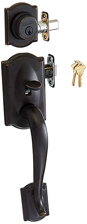An image related to Schlage F62CAM716GEO Aged Bronze Lock