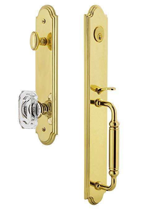 An image related to Grandeur 841806 Brass Lever Lockset Door Lock
