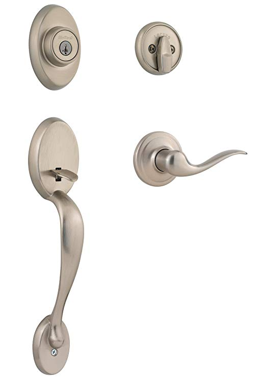 An image of Kwikset 98001-144 Satin Nickel Lever Lockset Lock