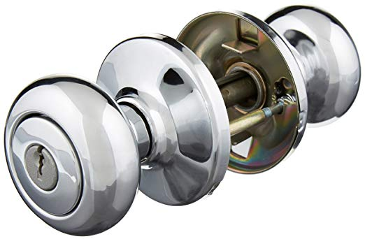 An image related to Kwikset 94002-757 Bathroom Entry Polished Chrome Lever Lockset Lock