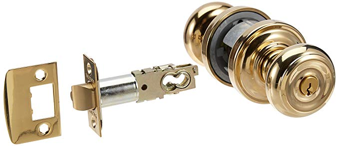 An image of Baldwin 5210.003.ENTR Entry Brass Polished Lock