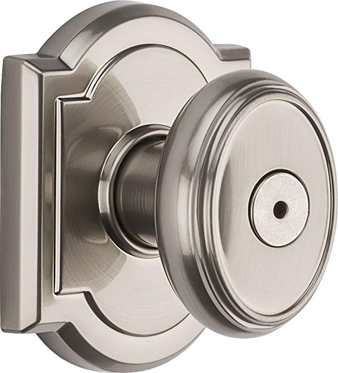 An image related to Baldwin 93530-002 Bathroom Privacy Satin Nickel Lock
