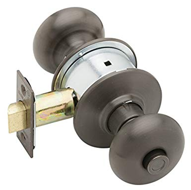 An image of Schlage A40S PLY 613 11-068 10-001 Bedroom Privacy Oil-Rubbed Bronze Lock