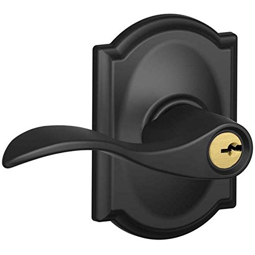 An image of Schlage F51AACC622CAM Entry Black Lock