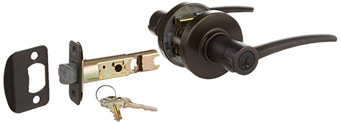 An image related to Kwikset 97409-255 Entry Venetian Bronze Lever Lockset Lock