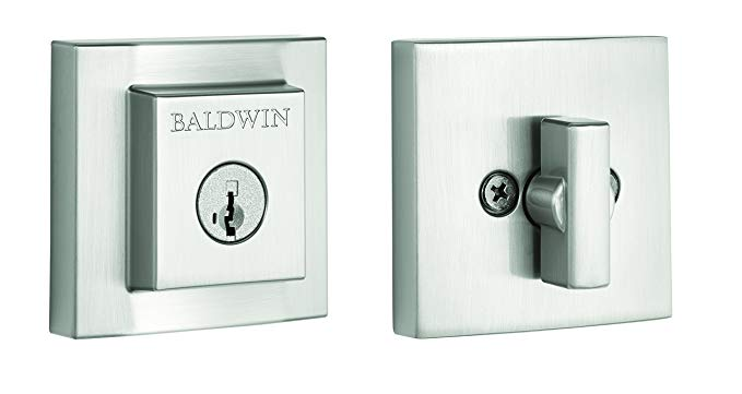 An image of Baldwin 93800-013 Brass Satin Nickel Lock