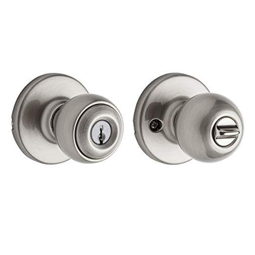 An image related to Kwikset 94002-502 Entry Metal Satin Nickel Lever Lockset Lock