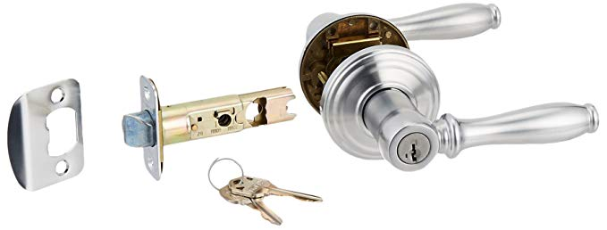 An image related to Kwikset 97402-747 Entry Satin Chrome Lever Lockset Lock