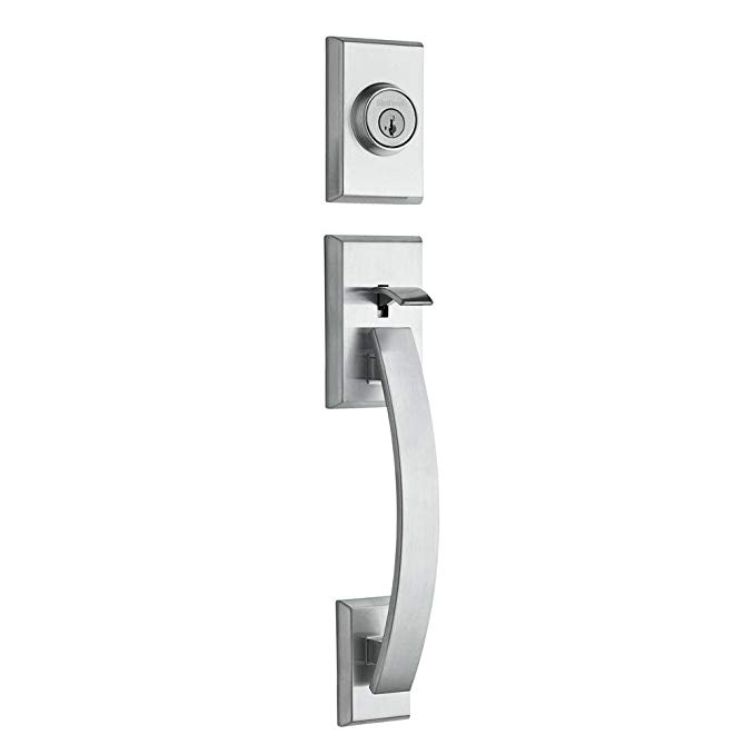 An image of Kwikset 98001-372 Satin Chrome Lever Lockset Lock
