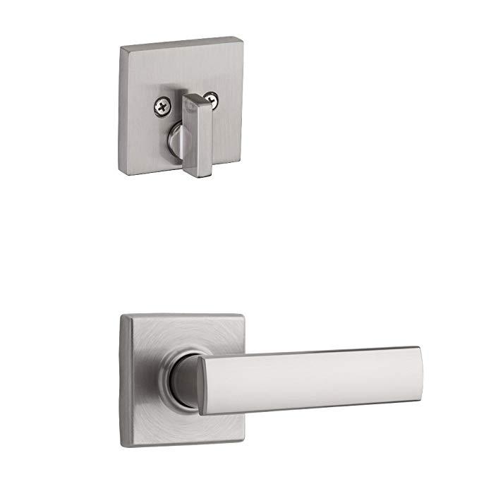 An image of Kwikset 99710-012 Satin Nickel Lever Lockset Door Lock | Door Lock Guide