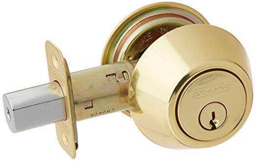 An image of Schlage JD62V605 Brass Lock | Door Lock Guide