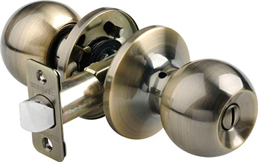 An image related to BRINKS 2712-109 Bedroom Privacy Brass Lock