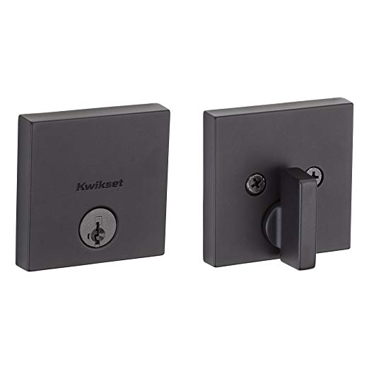 An image of Kwikset 92580-008 Iron Black Lock | Door Lock Guide